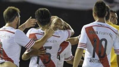 River Plate ganó el juego de ida de la Recopa Sudamericana a San Lorenzo...