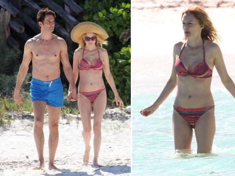Heather Graham disfrutó del hermoso Caribe mexicano.