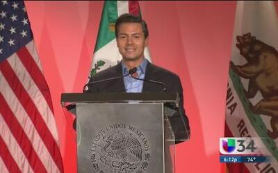 Enrique Peña Nieto de gira en California