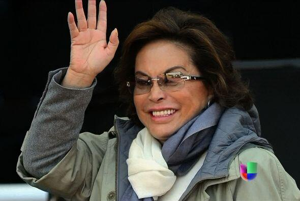 Elba Esther Gordillo, la poderosa líder del sindicato de maestros de Méx...