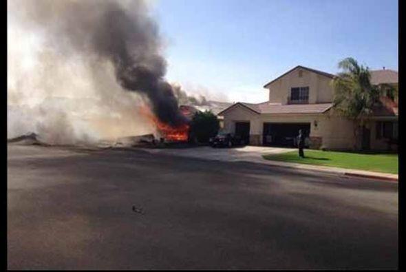 El jet accidentado pertenecía a una base militar en Yuma, Arizona  y por...