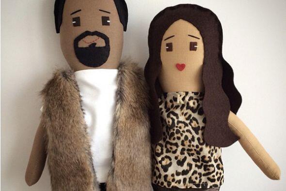 Una diseñadora hizo las réplicas de Kanye West y Kim Karda...