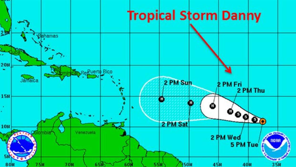 Tormenta Tropical Danny