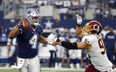 Cowboys vencen a Redskins y siguen intratables como el mejor equipo de l...
