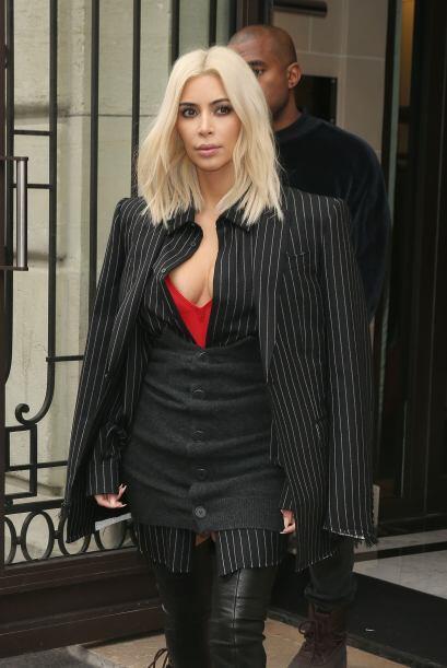 Kim y Knye siguen haciendo de las suyas en París.
