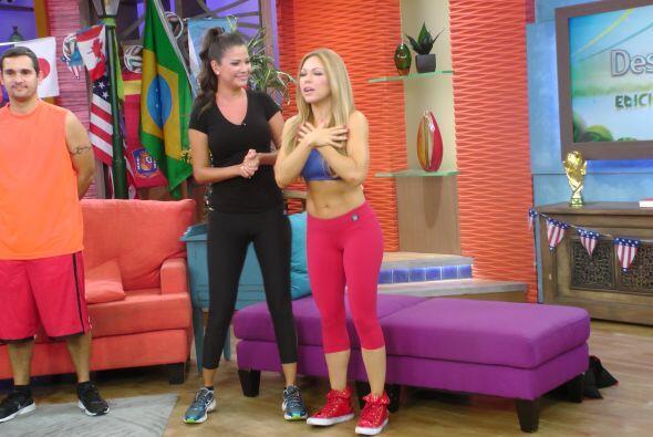 Por si fuera poco, Claudia Molina nos enseñó unos ejercicios buenísimos...