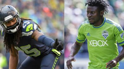Richard Sherman y Obafemi Martins, figuras en Seattle.