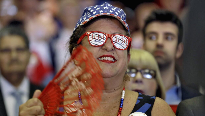 Roxanna Greene, simpatizante de Jeb Bush, en un evento en Tampa