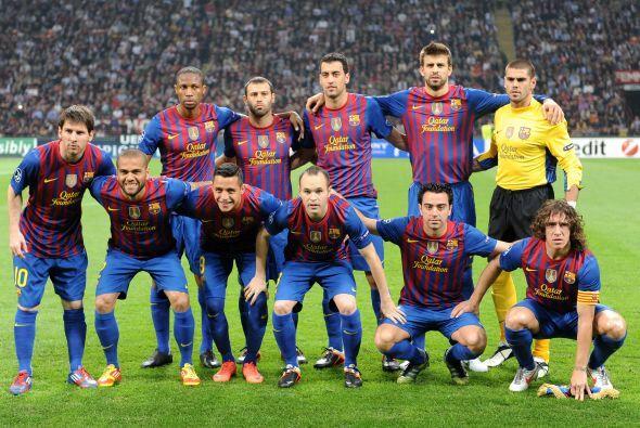 Alineaciones probables:  Barcelona: Valdés; Alves, Mascherano, Piqué, Pu...