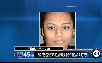 En Un Minuto Houston: Revelan foto de una joven hispana que fue hallada...