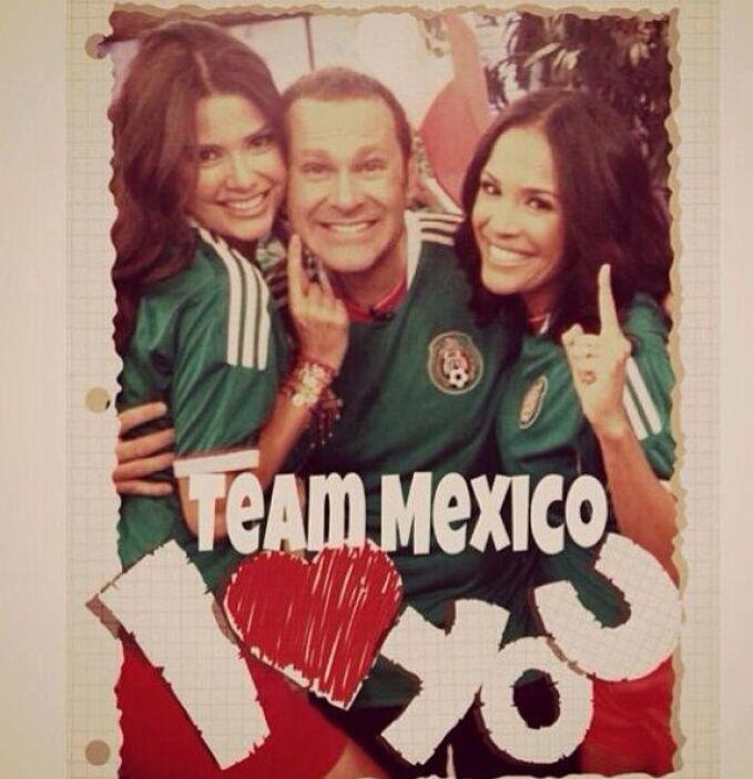 """""""Listos para apoyar a nuestra selección Mexicana!"""", mostró Ana Patricia...."""