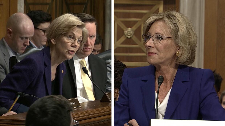 Varios senadores acorralan a DeVos durante su audiencia de confirmación...