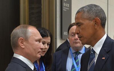 Los presidentes de Rusia, Vladimir Putin, y Estados Unidos, Barack Obama...