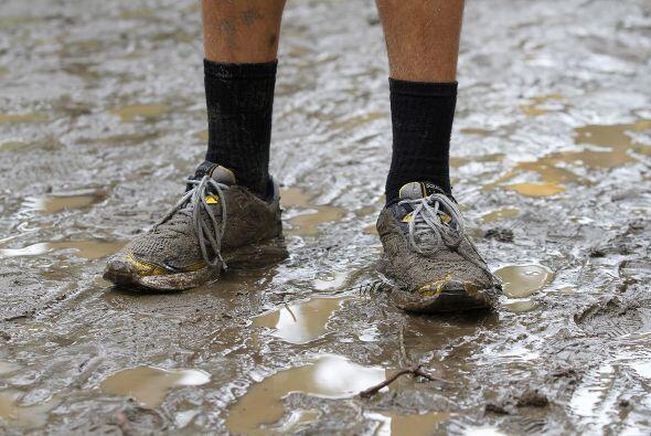 La destrucción de las inundaciones provocadas por las lluvias de...
