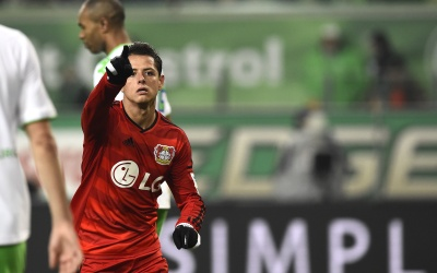 Chicharito le anotó al Wolfsburgo