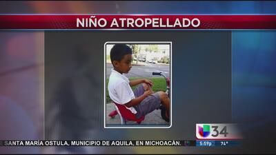 Niño muere atropellado en CA