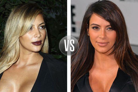 No entendemos el por qué Kim Kardashian se empeña en ser rubia, de moren...