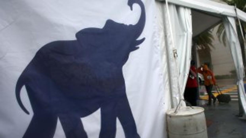 Elefante, el símbolo delPartido Republicano.