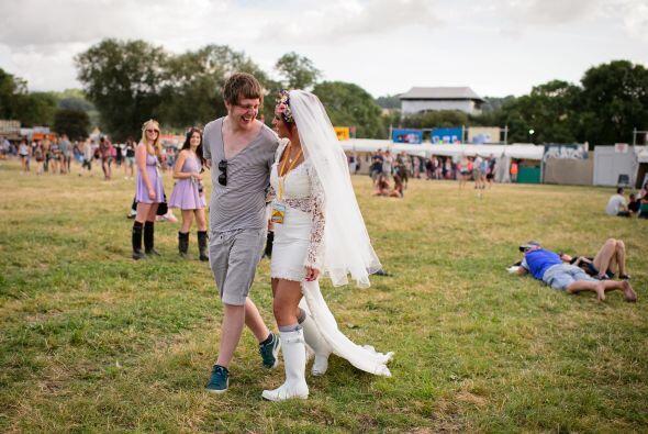 Jack y Vianca Vaughan decidieron casarse en un lugar muy cercano a la se...