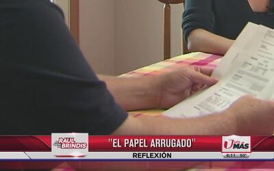 Reflexión: El papel arrugado