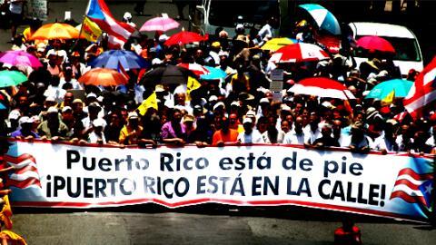Manifestación contra la junta