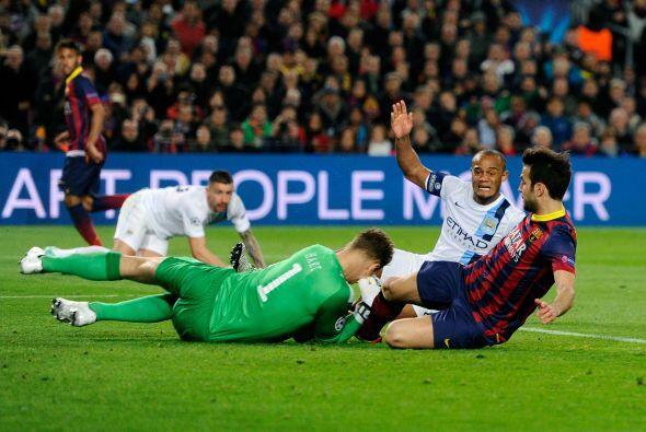 Los primeros 45 minutos acabaron con más opciones en favor del Barcelona...