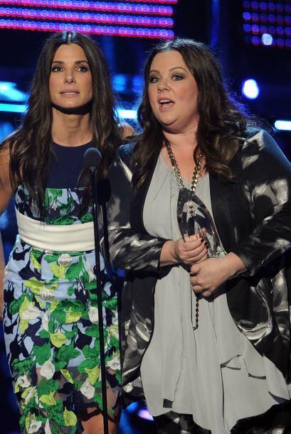 """¡Claro! Las actrices agradecieron el triunfo de """"The Heat""""."""