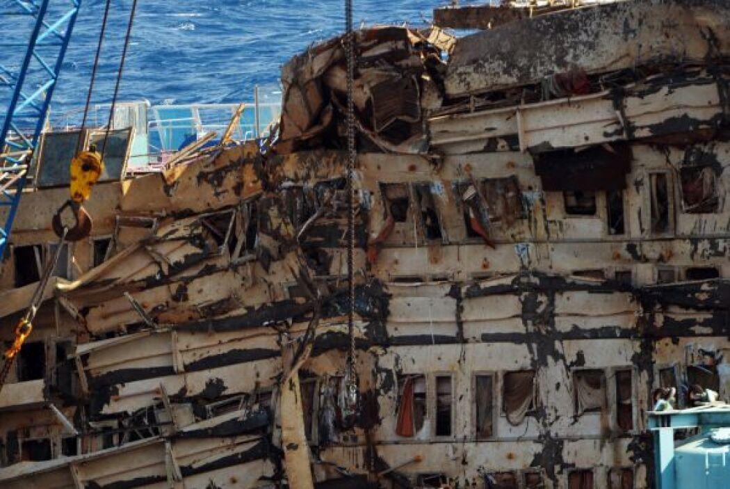 La nave permanecerá en las costas de Giliio hasta la primavera entrante....