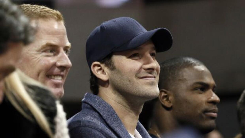 Jason Garrett, Tony Romo y DeMarco Murray (AP-NFL).