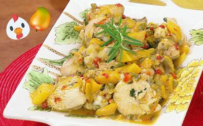El Chef Pepín se lució hoy con este Pollo al Mango con sabor muy tropical