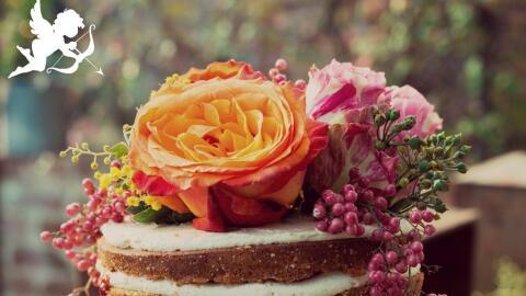Torta de bodas floral