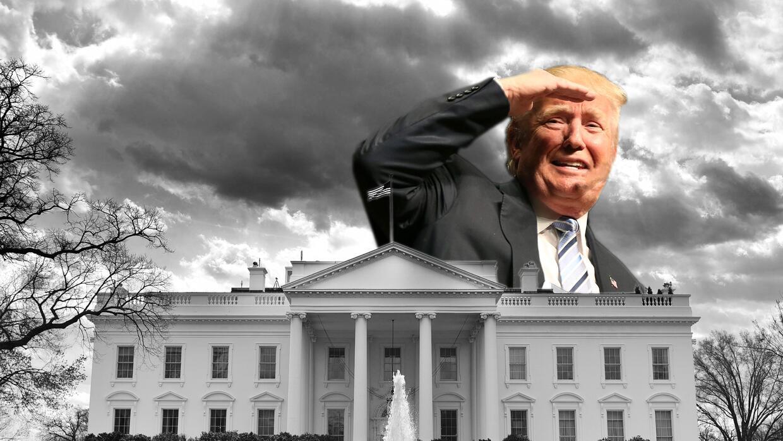 Resultado de imagen para trump en la casa blanca