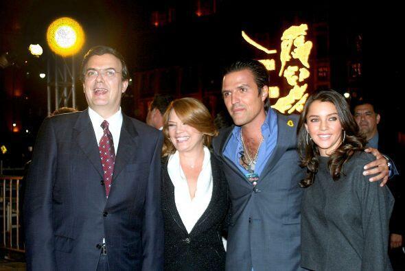 El alcalde de la Ciudad de México, Marcelo Ebrard Casaubón...