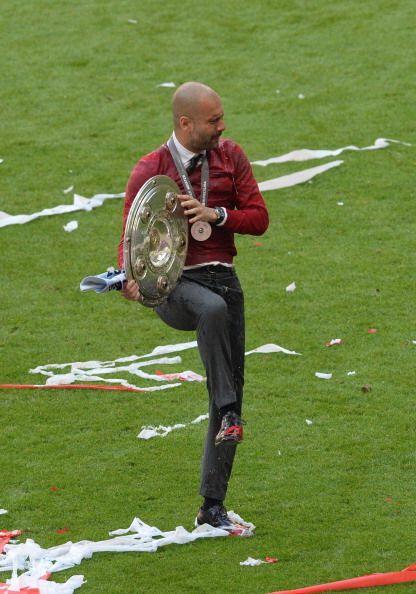 El Bayern de Múnich celebró ante sus aficionados el título de la Bundesl...