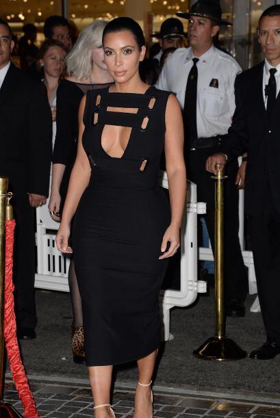 Kim asistió a la apertura de la tienda Nordstrom y no lleg&oacute...