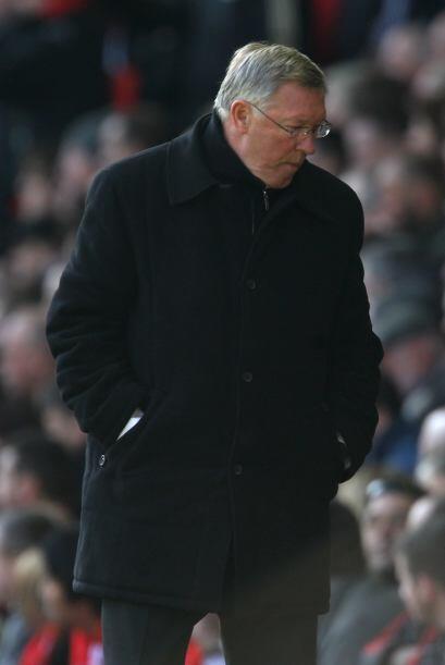 Alex Ferguson, estratega de los 'Red Devils', no podía creer lo que pasaba.