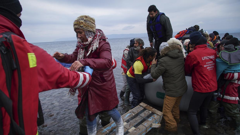 En enero han llegado a Europa 54,500 refugiados a través del Mediterráneo.