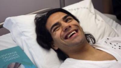 Ramadel Falcao en la cama tras la operación.