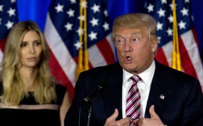 Donald Trump, aspirante a la nominación presidencial del Partido...