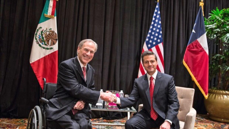 Peña Nieto y Greg Abbott