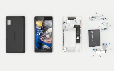 Fairphone desmontado.