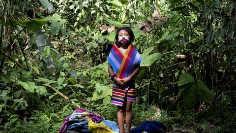 Retrato de una joven realizado por Emilia Lloret, la fotógrafa de...