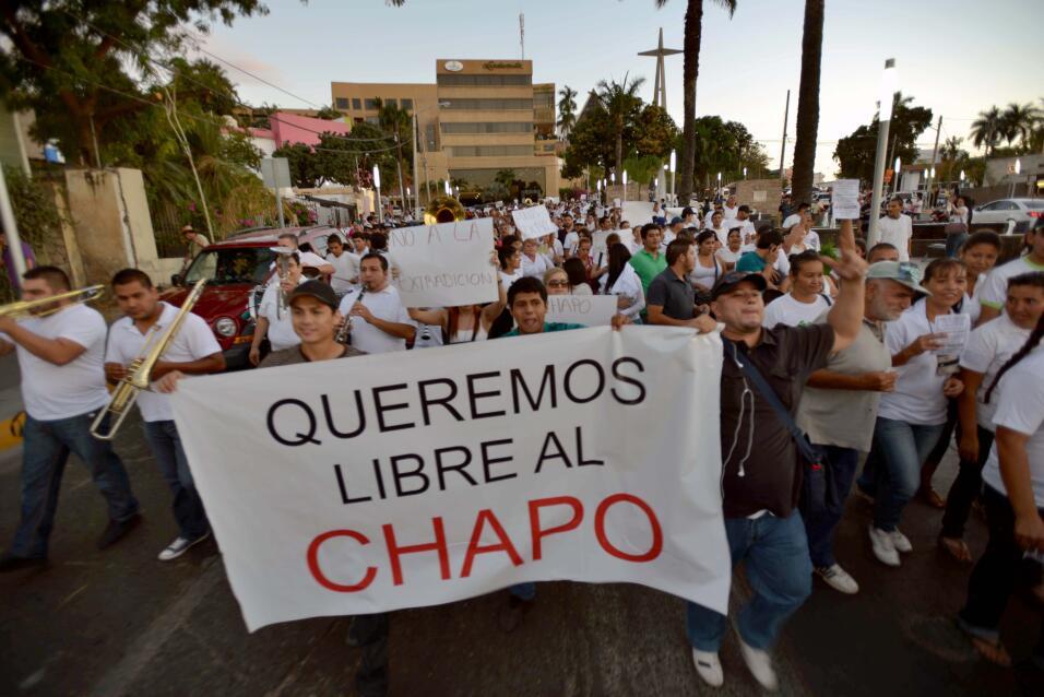 Protestas por el Chapo