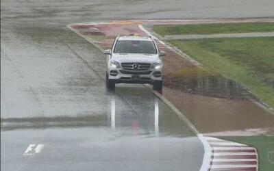 Sesión clasificatoria de Fórmula 1 fue suspendida por mal tiempo