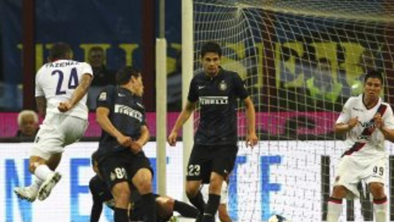 Pazienza anota para Bolonia ante Inter.