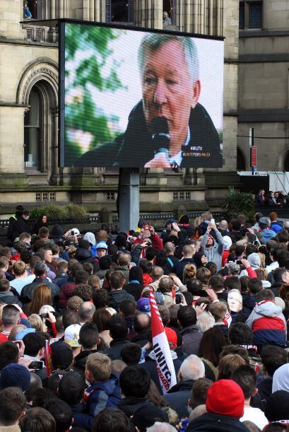 Se colocaron pantallas gigantes para que todos pudieran ver cada momento.