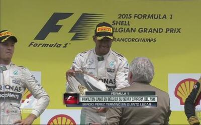 Hamilton se llevó el GP de Bélgica