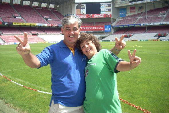 Nuestro corresponsal Ricardo Arambarri es padre de Lorea Nicole y de Jon...