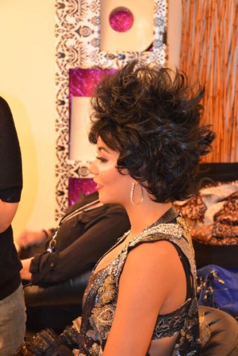 Muy cerca también estaba Katherine, en su papel de Alejandra Guzmán.