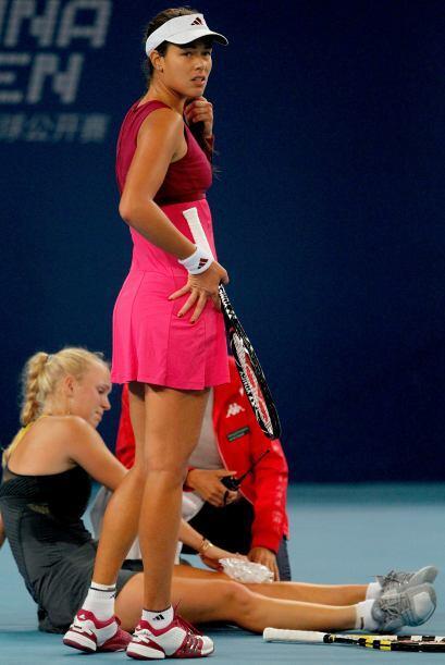La serbia Ana Ivanovic mostró preocupación ante la posible...